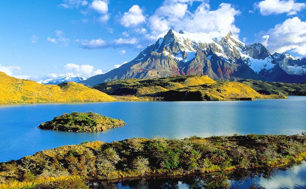 Patagonie : lac Torres del paine Pehoe du côté Chile