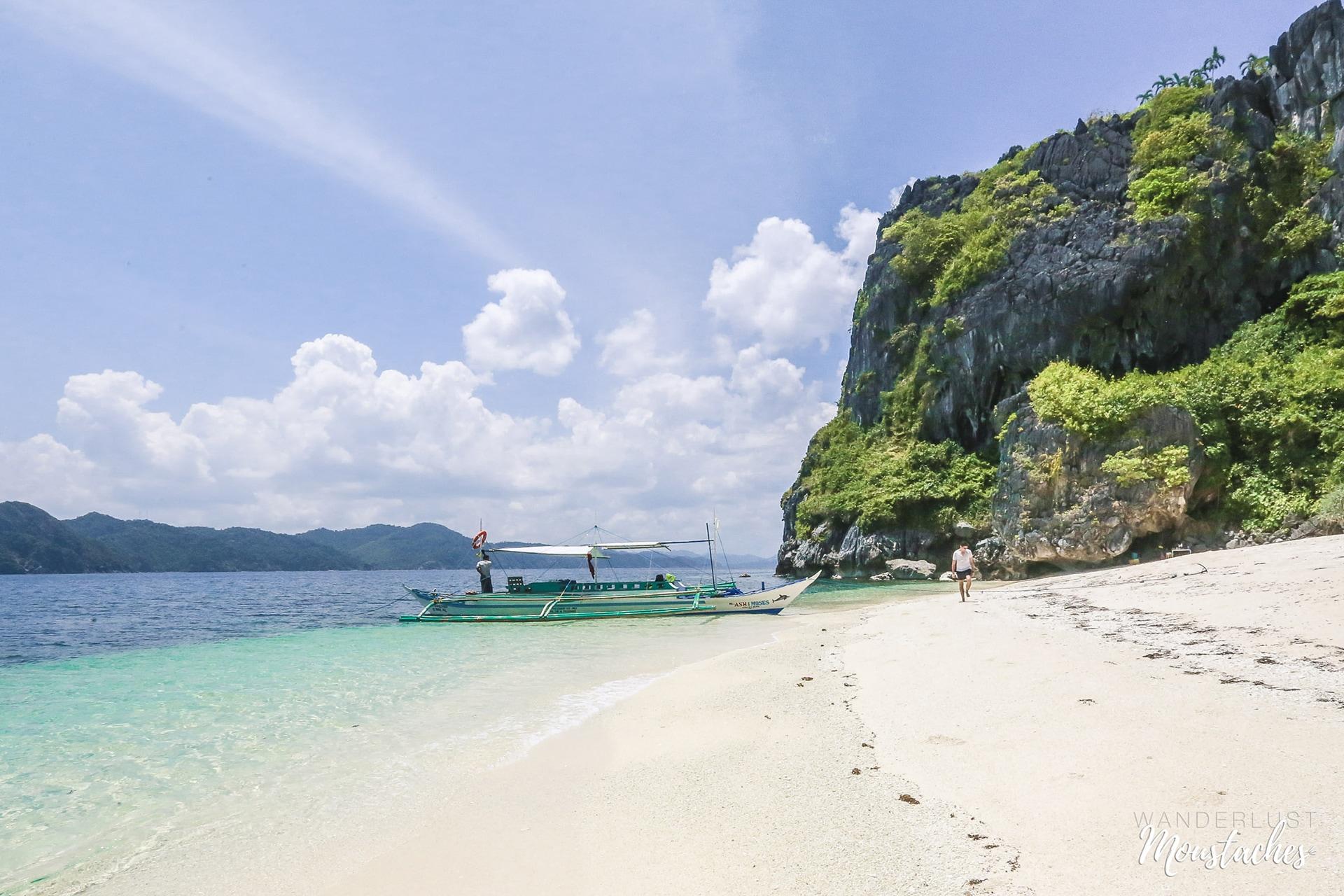 Une des plages idylliques de l'archipel de Bacuit