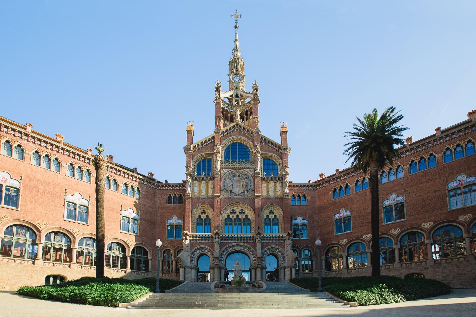 Façade de l'Hospital Sant Pau