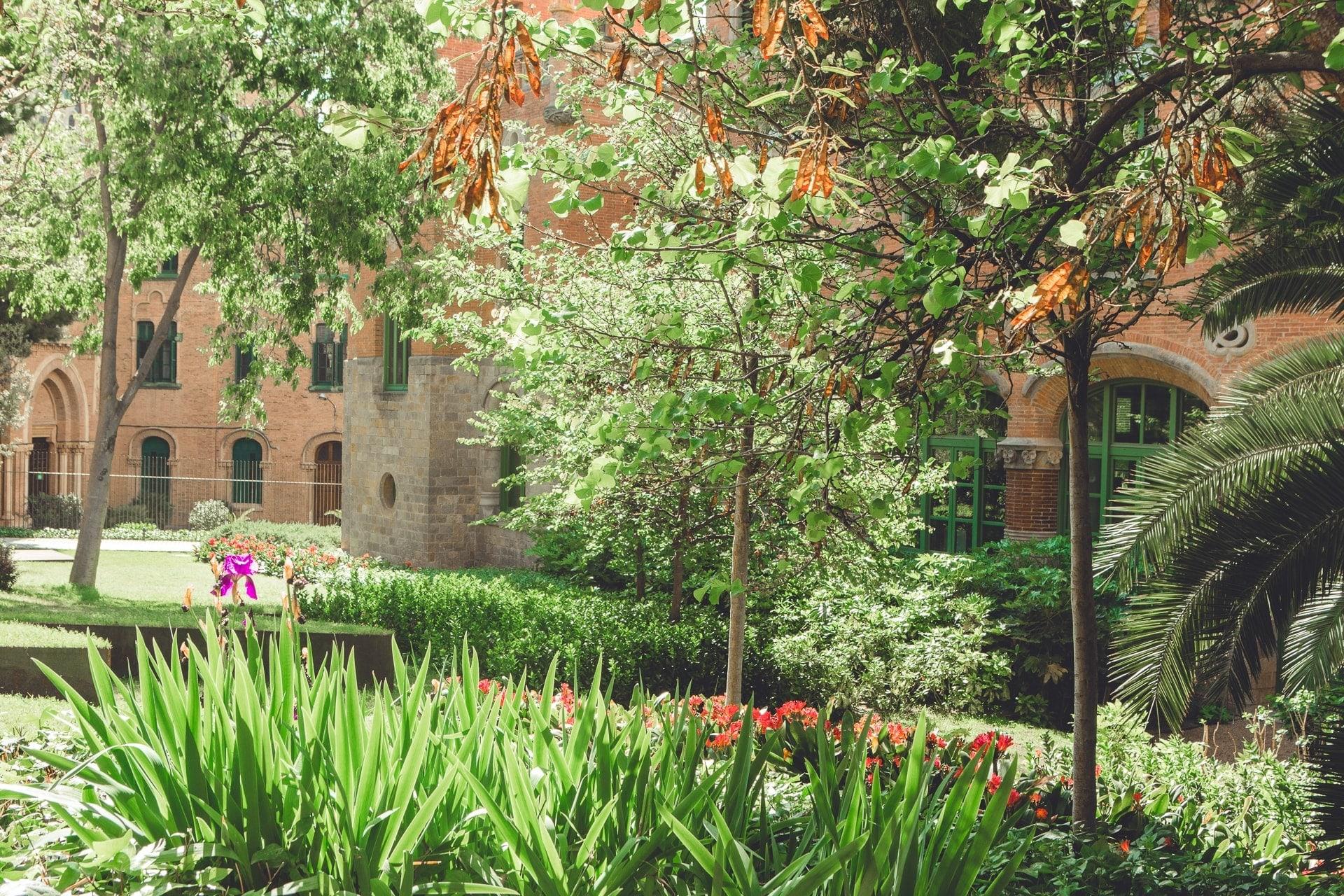 Les jardins de l'hospital Sant Pau à Barcelone