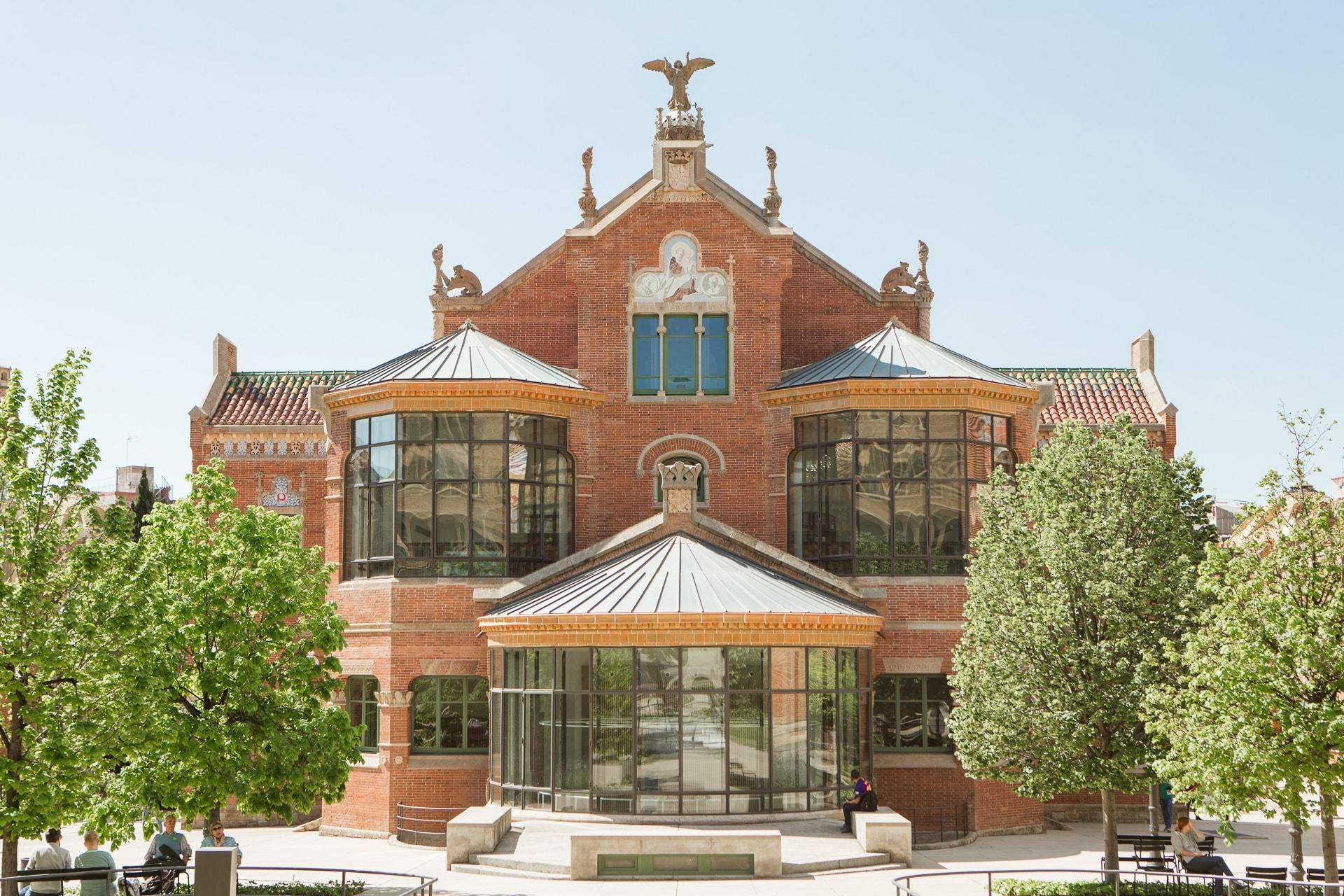 Le pavillon des opérations de l'Hospital Sant Pau à Barcelone
