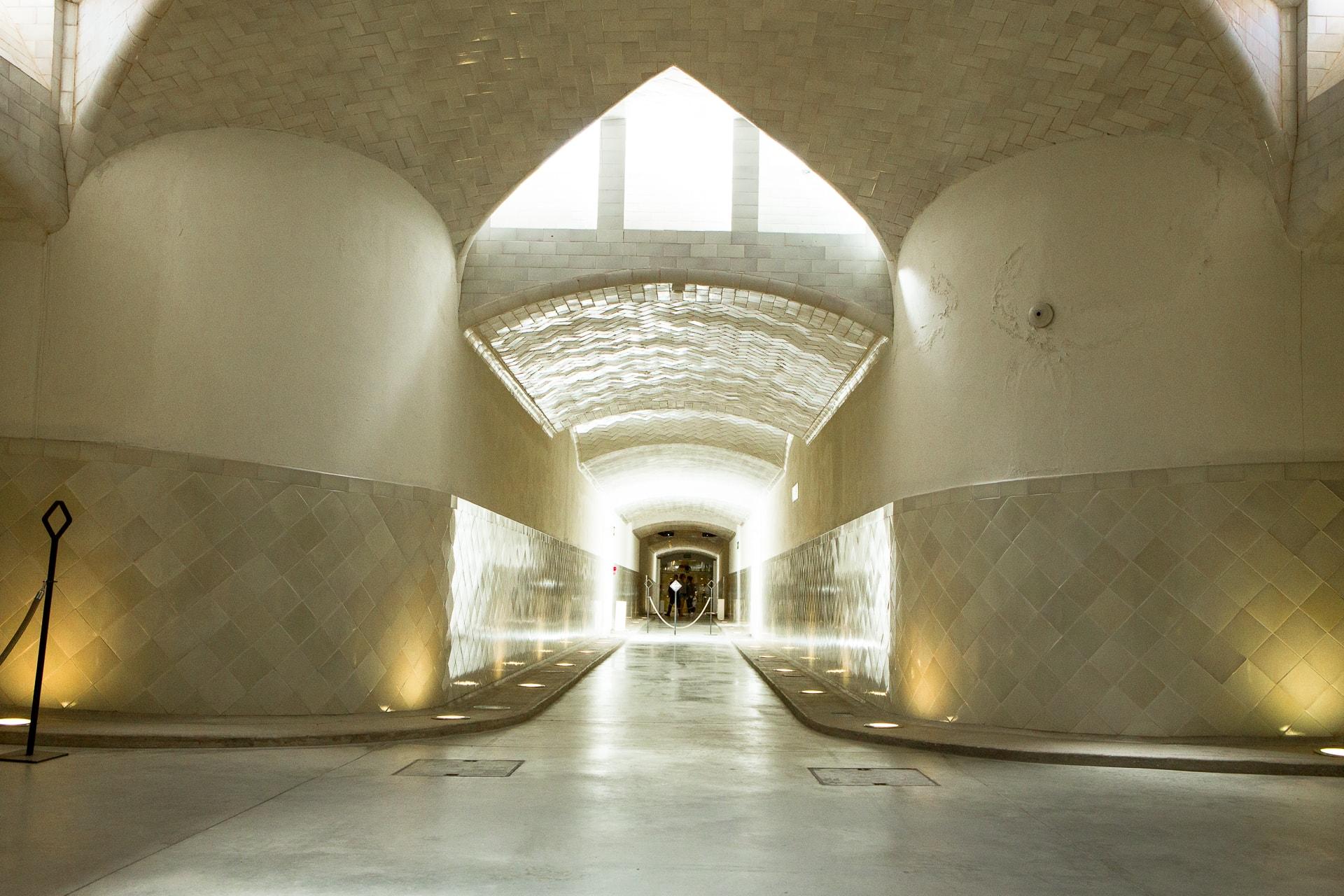 Les tunnels souterrains de l'hospital Sant Pau à Barcelone
