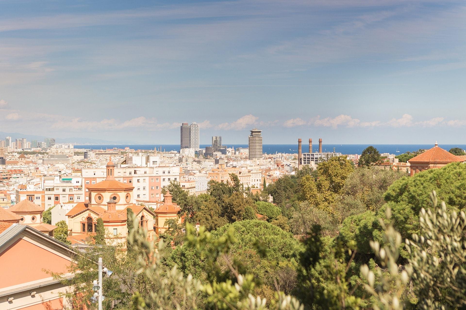 Vue de Barcelone depuis le Palais National