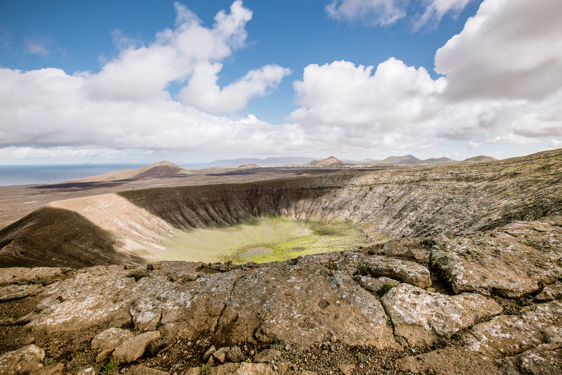 Cratère du volcan de la Caldera Blanca