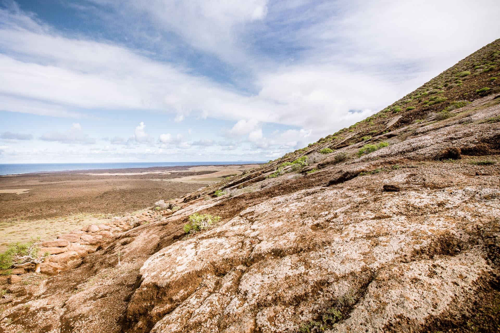 Versant du volcan Caldera Blanca à Lanzarote