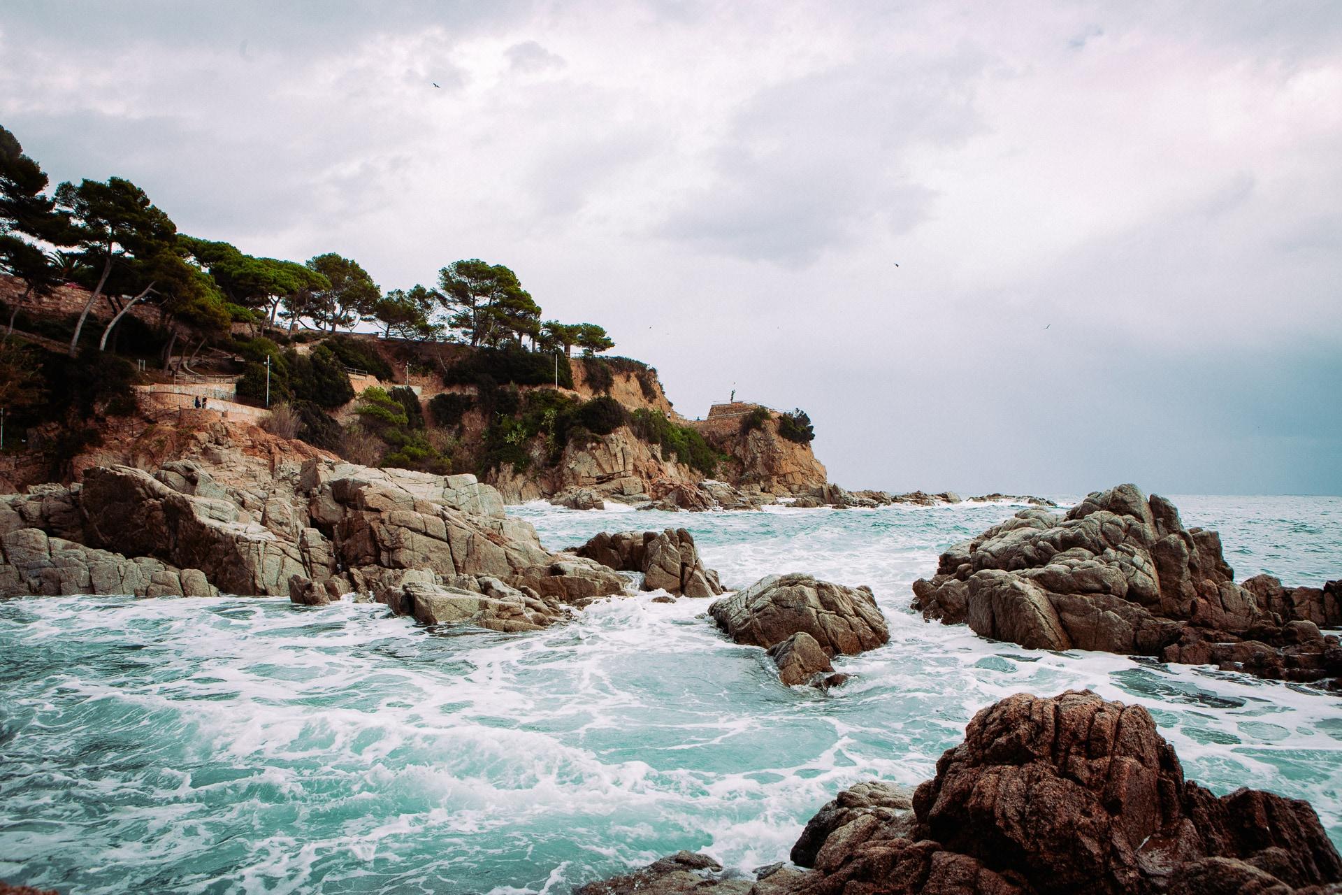 La statue Marinera à Lloret de Mar en Espagne