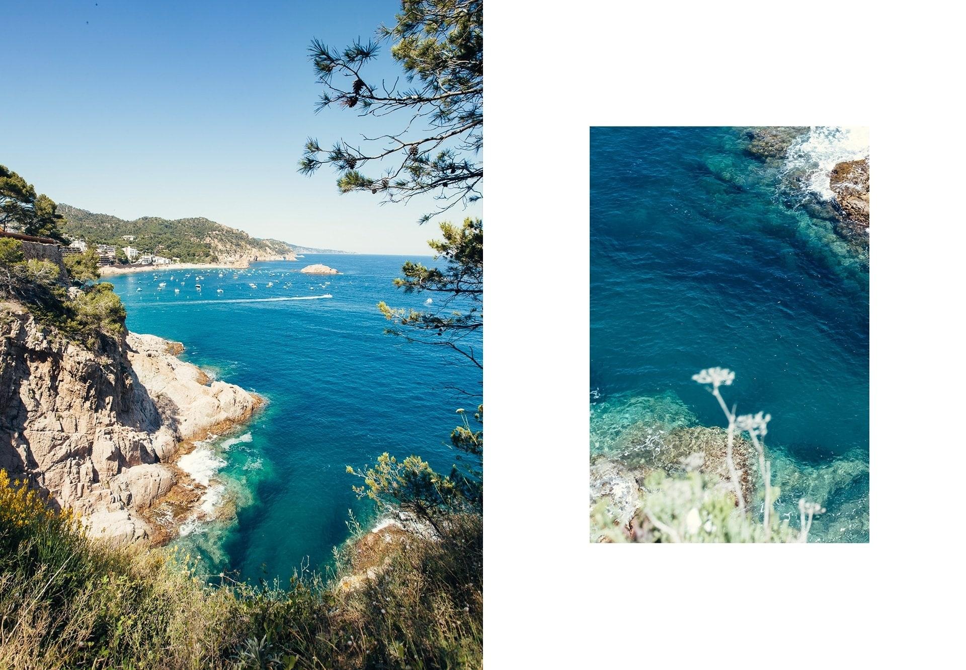 Vue mer de Tossa de Mar sur la Costa Brava