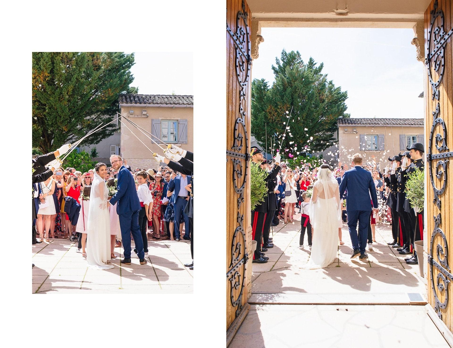 Mariage à l'église de Gleizé dans le Beaujolais