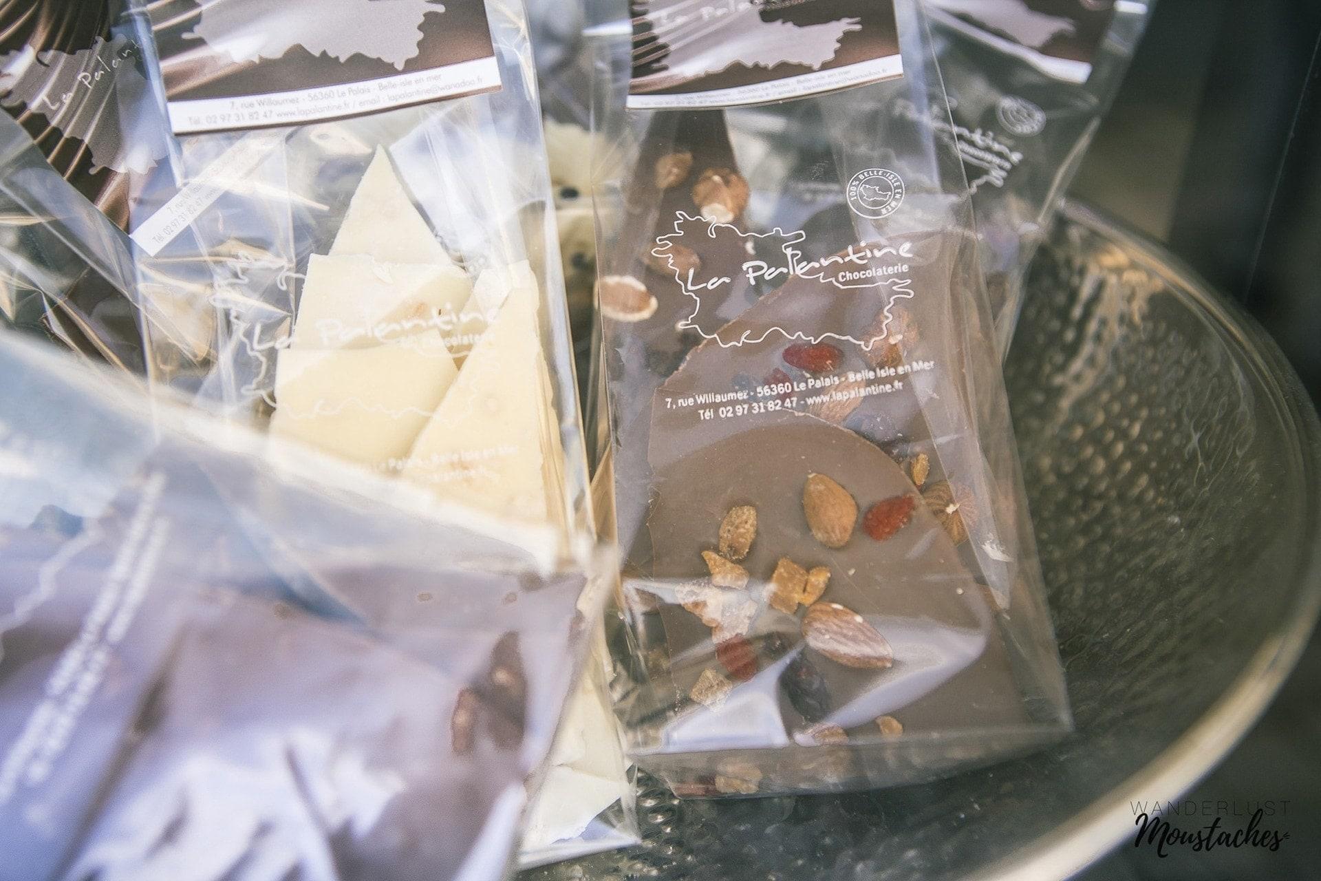 Les chocolats de la Palantine à Belle ile en Mer
