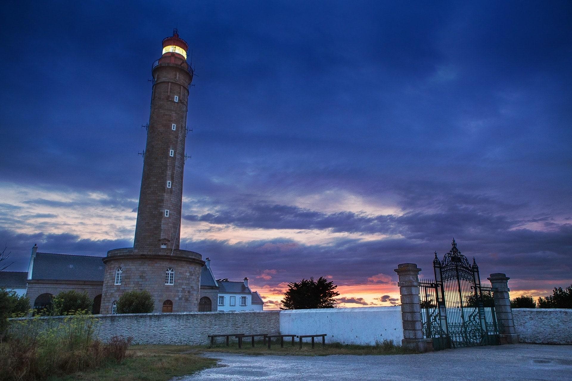 Phare de Goulphar de nuit à Belle-Île-en-mer
