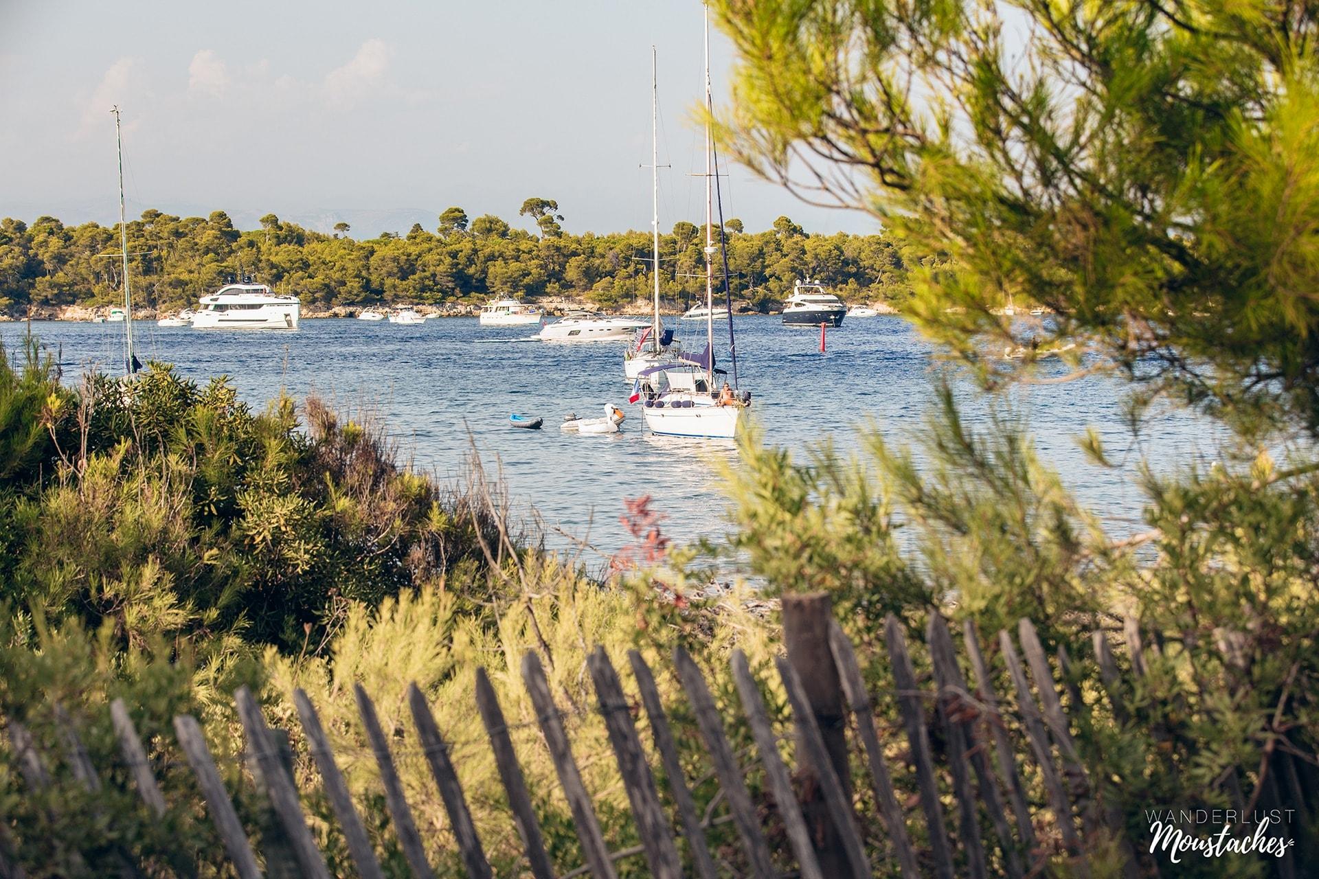 Entre les l'île Sainte-Marguerite et l'île Saint-Honorat à Cannes