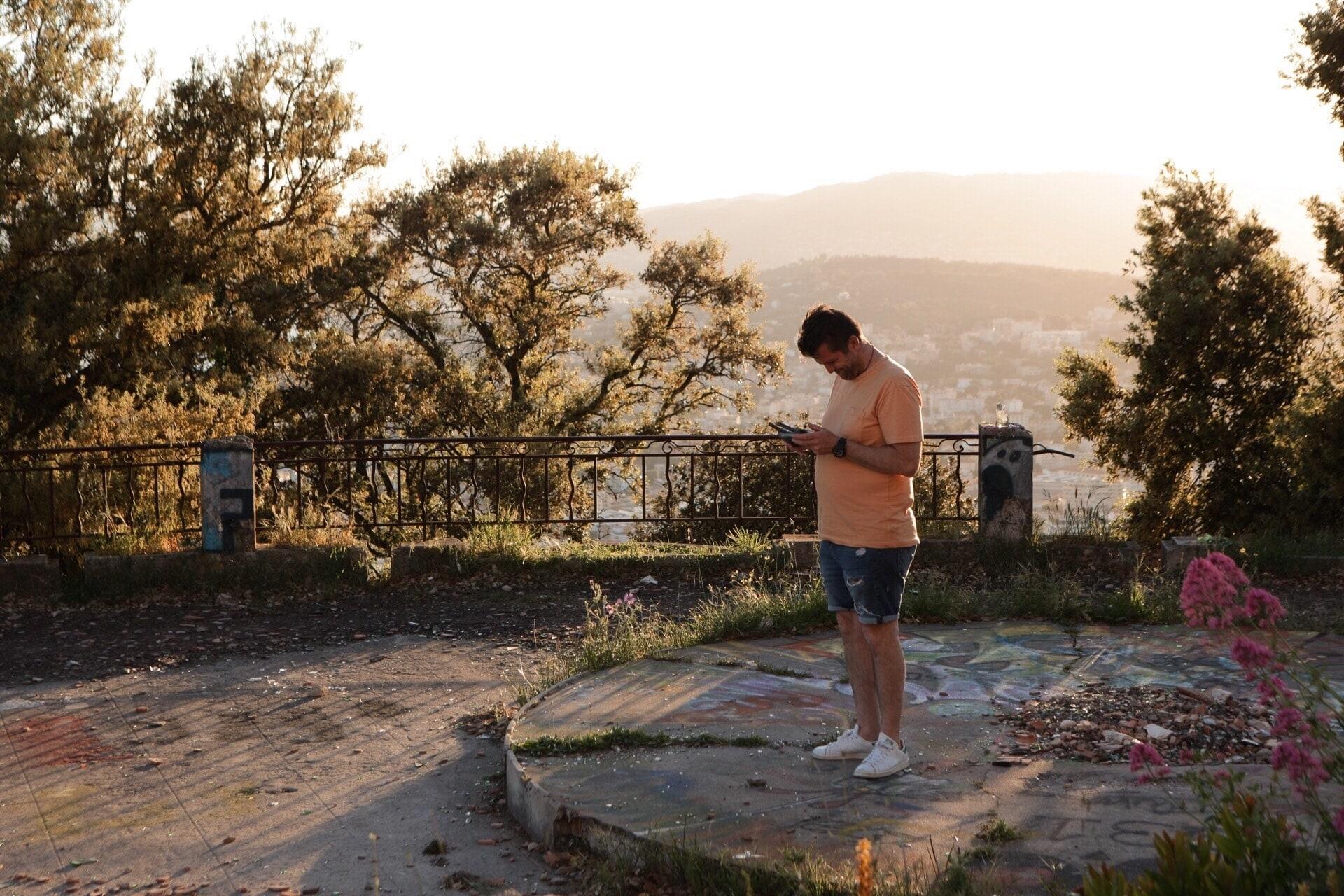 Sylvain à l'Observatoire de Cannes