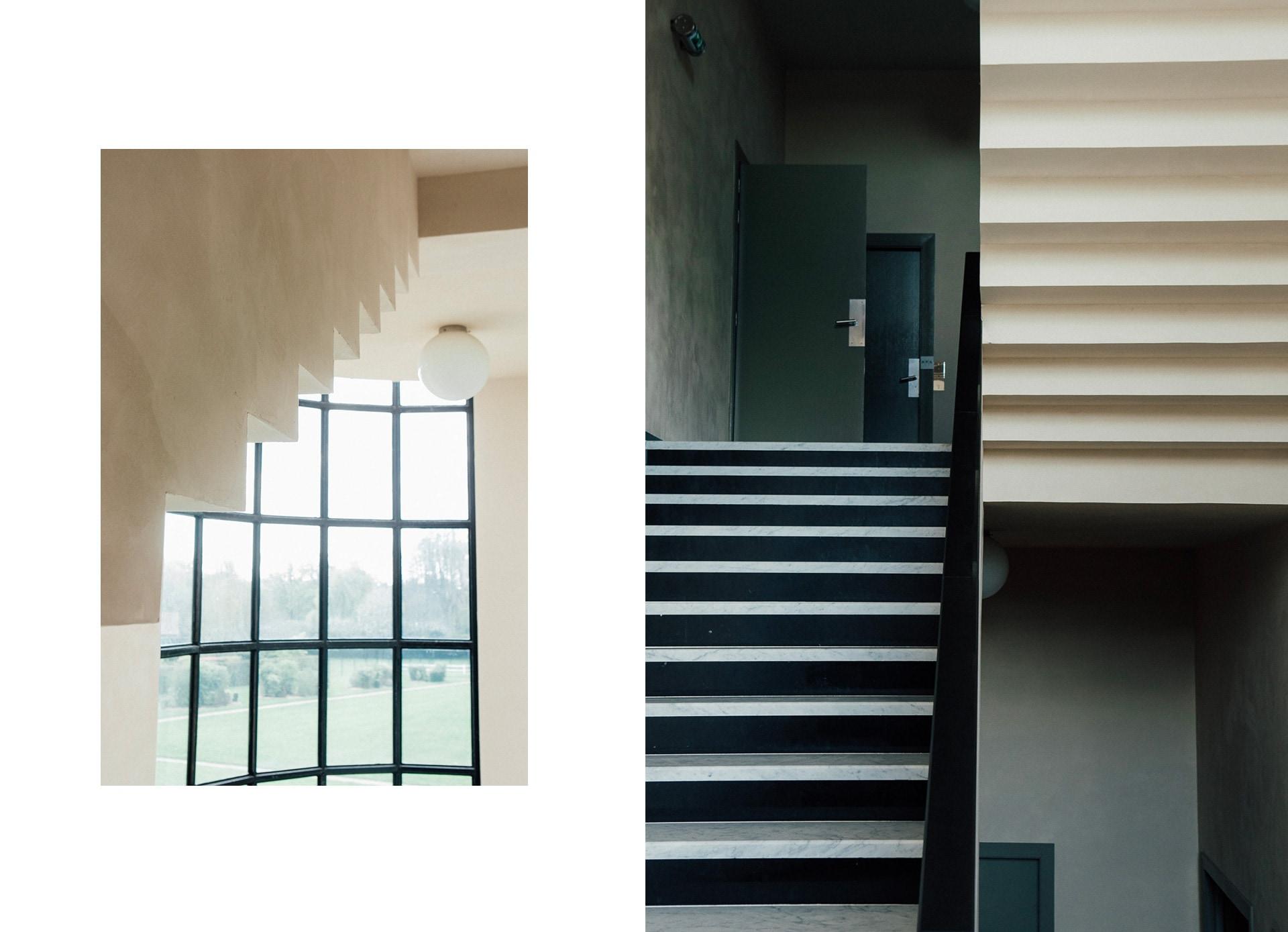Les escaliers en marbre de la villa Cavrois