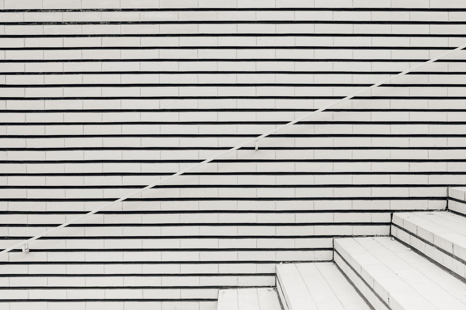 Les escaliers extérieurs de la Villa Cavrois
