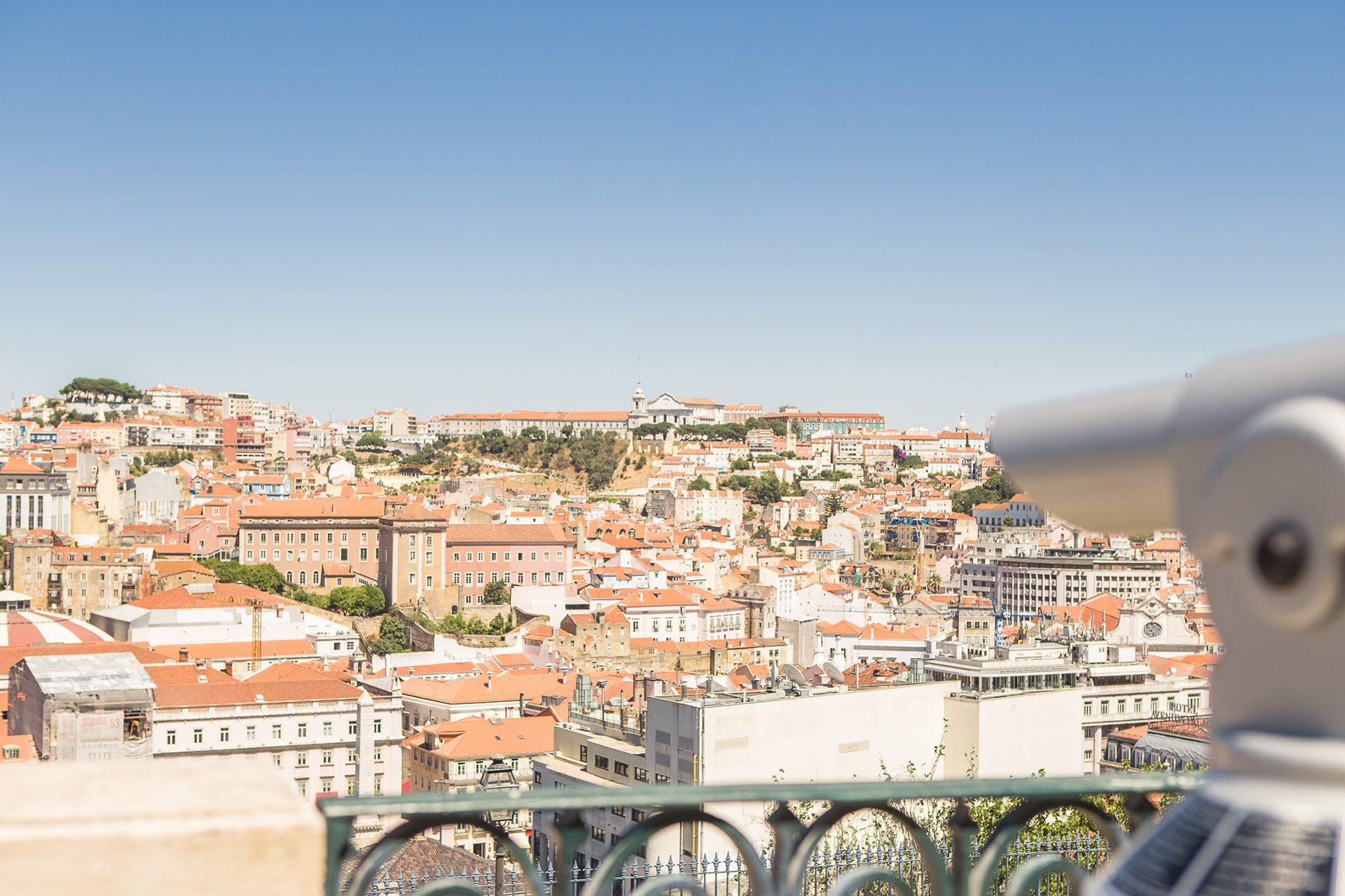 Longue Vue Depuis Le Miradouro Sao Pedro De Alcantara à Lisbonne