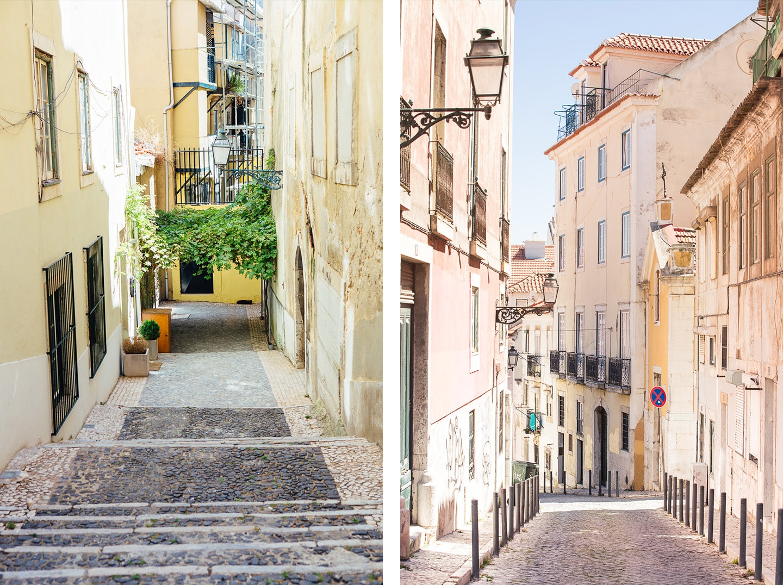 Les ruelles de Lisbonne au Portugal